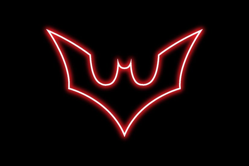 hd batman beyond glow emblem wallpaper by aligjarash on DeviantArt