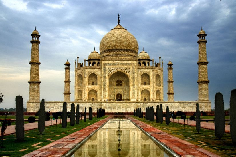 Preview wallpaper india, city, agra, taj mahal, architecture, marble, domes
