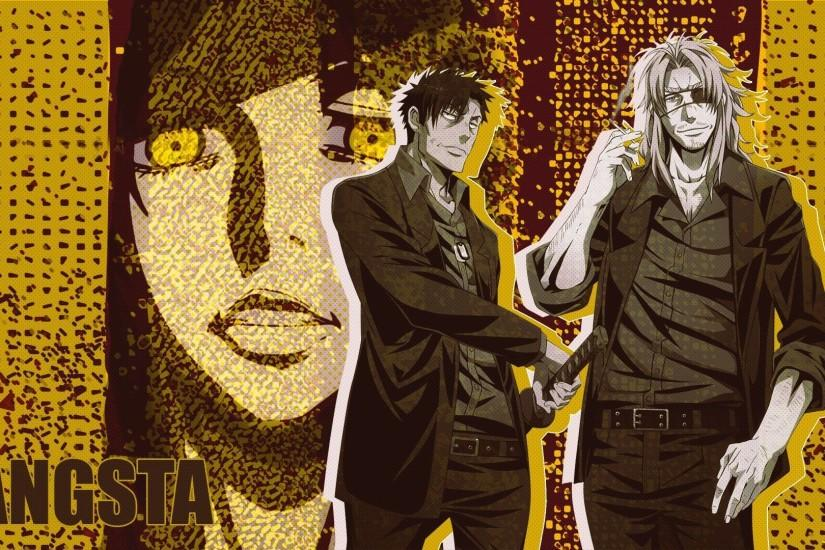 Anime series gangsta characters males wallpaper | 1920x1080 | 826798 .