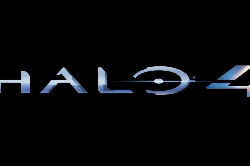 Halo 4 1080p wallpaper - 1920x1080. Blue Halo 4 text with a solid black  background