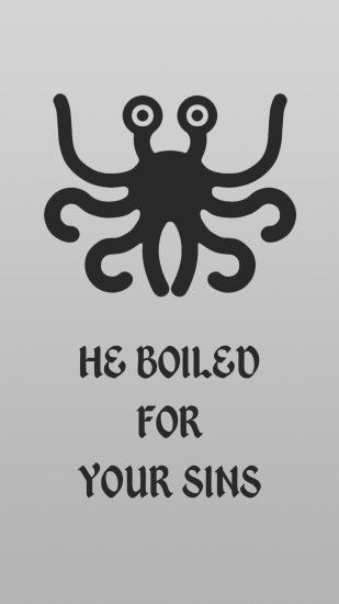 Flying Spaghetti Monster mobile wallpaper (1080x1920)
