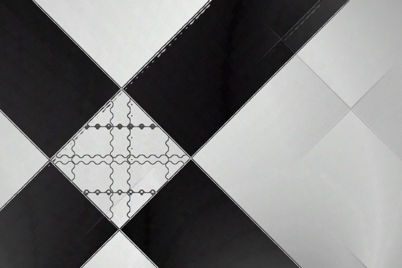 black, White, Square, Shapes, Bit, Abstract Wallpaper HD