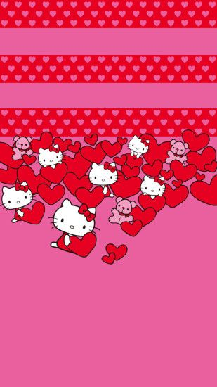 Hello Kitty Hearts LG G3 Wallpapers