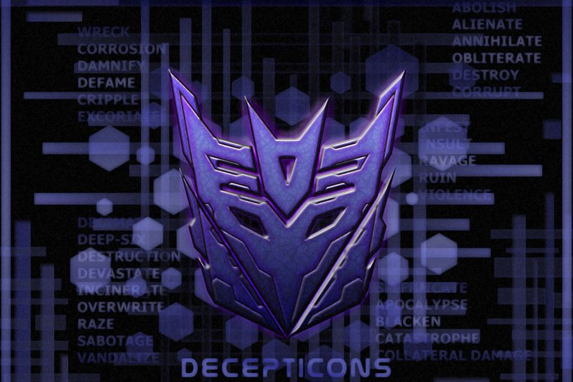 wallpapers and screensavers of transformers | Transformers Decepticons Logo  On Purple Wallpaper
