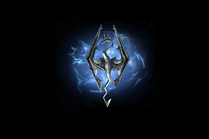 Skyrim Logo Wallpaper HD