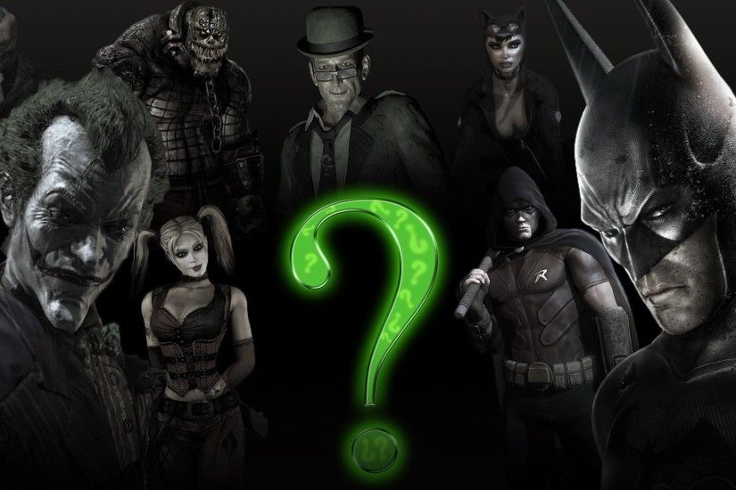 Batman Joker Harley Quinn The Riddler Killer Croc Arkham City Catwoman Two  Face Video Games