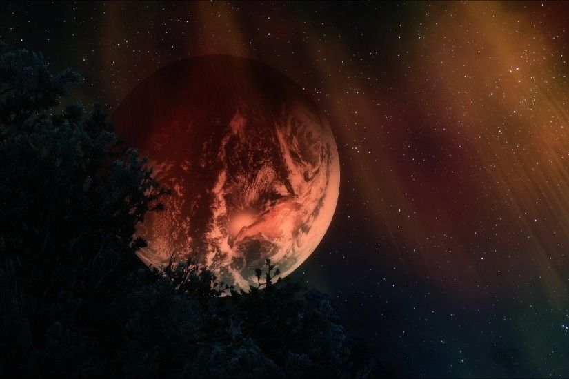 Wallpaper Planets, Stars, Sky, Night, Dark, Art, 3d