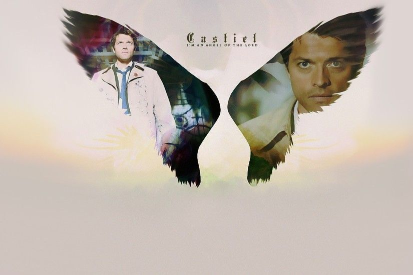 fandomnatural supernatural iphone wallpaper Angels supernatural castiel tv  series ...