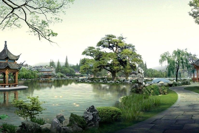 Japanese garden wallpaper - Digital Art wallpapers - #