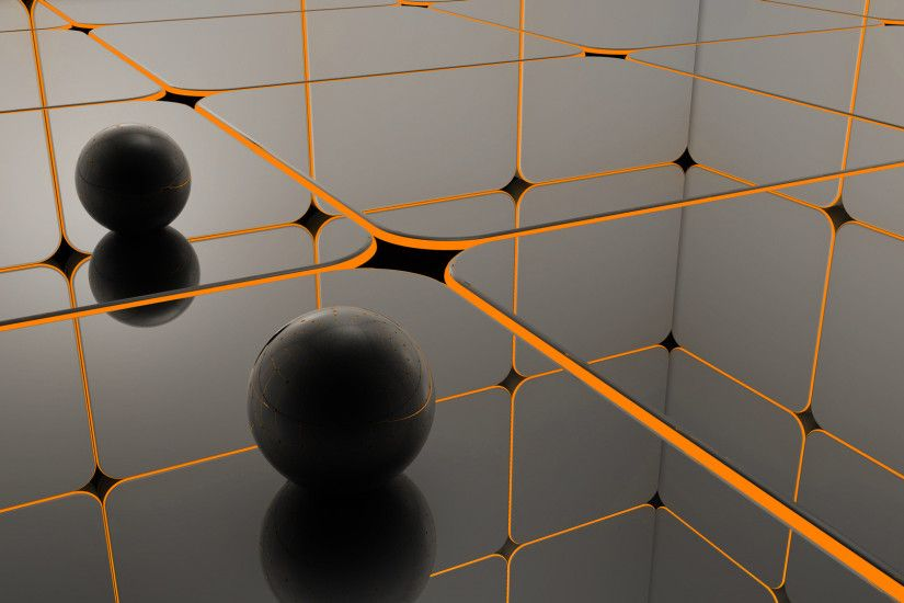 hd wallpaper 3d sphere cube grid. Download image