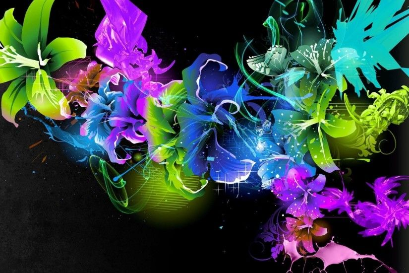 Fantasy Flower Rainbow Beautiful Color Fine