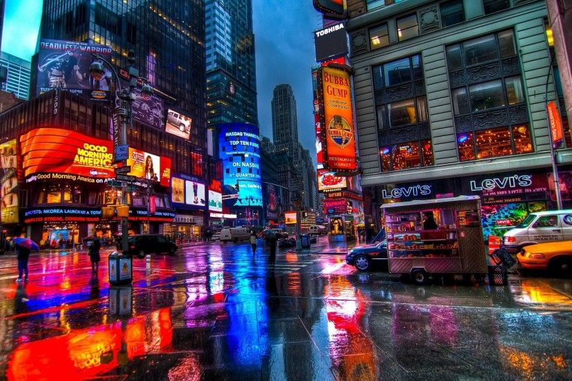 Billboards, Times Square, New York City widescreen wallpaper 1920×1200  Times Square Wallpapers