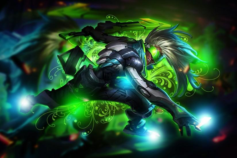 League Of Angels Ekko Splash Art Project Gameplay Hd Wallpaper For Mobile  Phones Tablet And Pc 2560x1440 : Wallpapers13.com