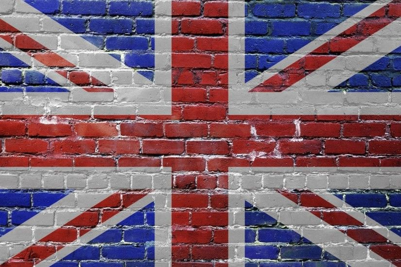 Preview wallpaper united kingdom, uk, bricks, flag 3840x2160