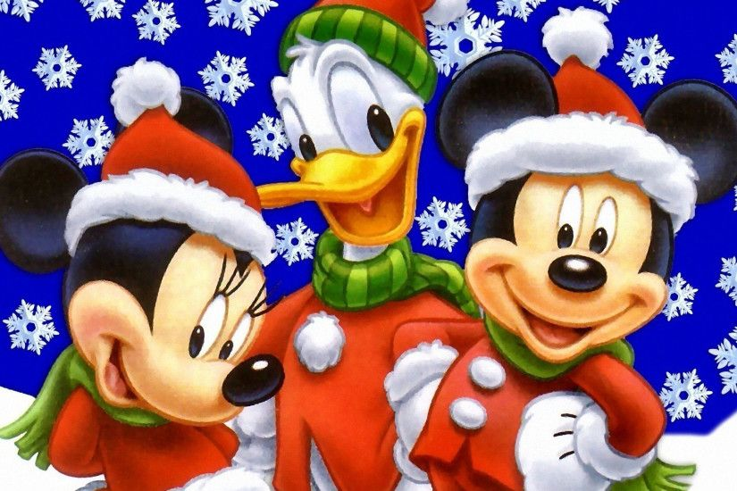 Mickey And Minnie Mouse With Donald Duck.