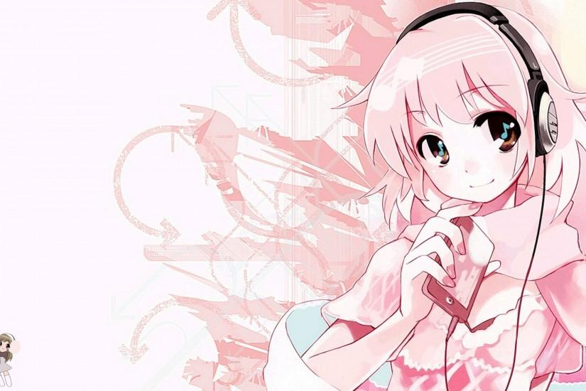 Pink Cute Anime Music Wallpapers HD Desktop #9820 Wallpaper
