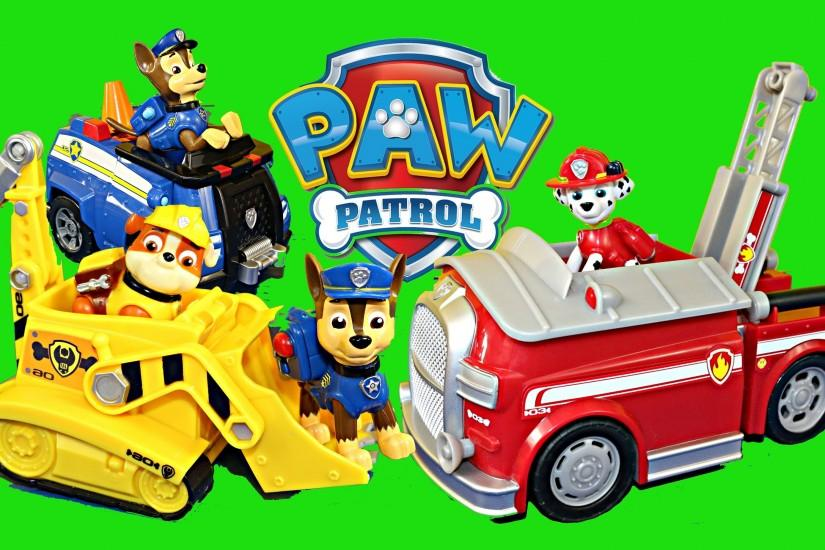 NEW Paw Patrol Dog Toys Nickelodeon Nick Jr Chase Rubble Bulldozer Marshall  Firetruck DisneyCarToys