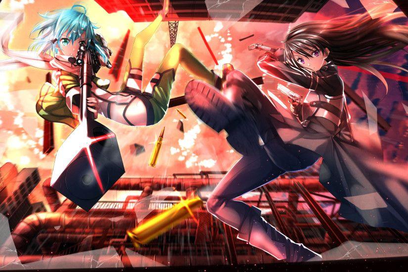 Sinon Kirito SAO 2 HD Wallpaper