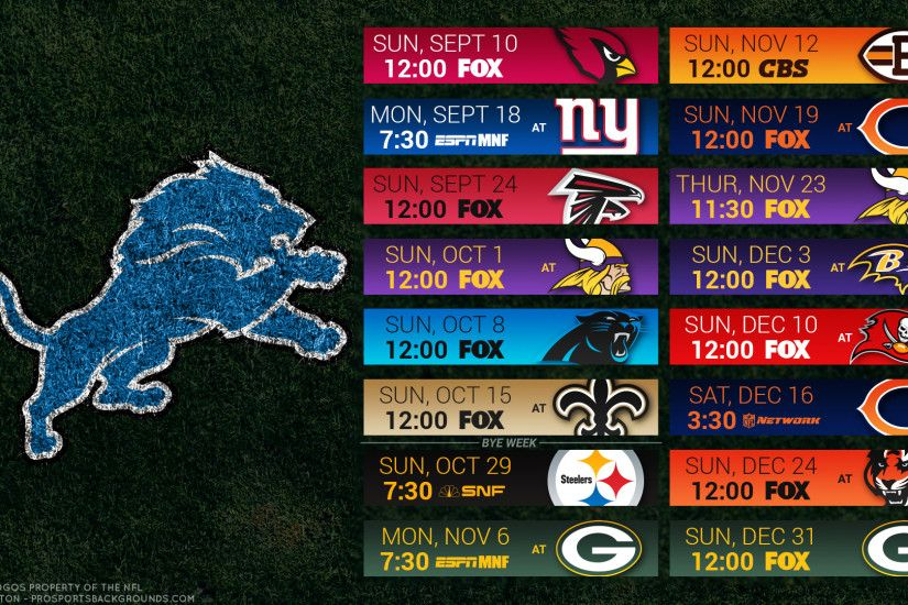 Detroit Lions 2017 schedule turf football logo wallpaper free pc desktop  computer ...