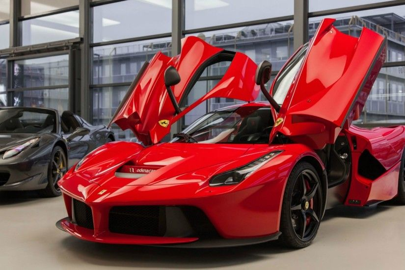 Ferrari LaFerrari car with open doors