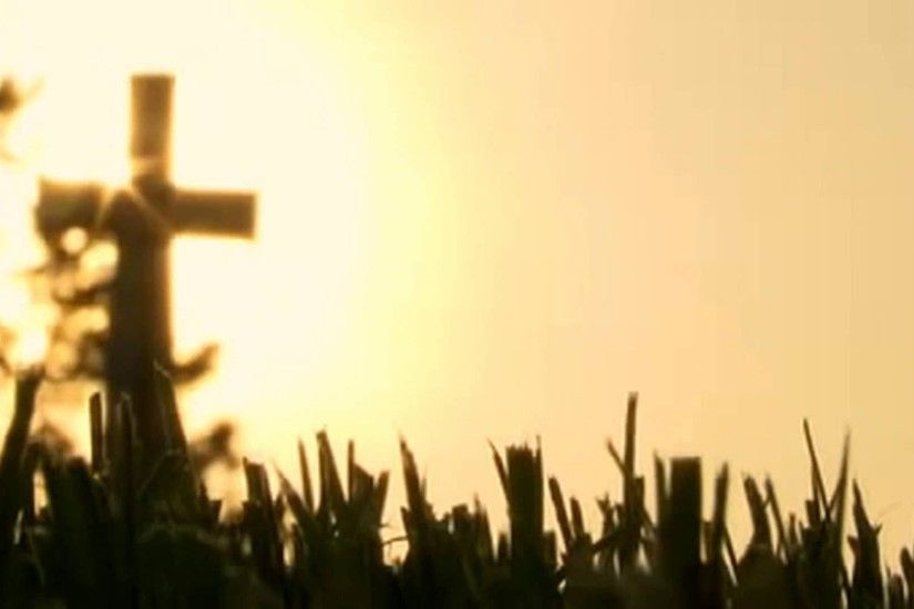 Cross with Grass and Sunrise Background Motion Video Loops HD - YouTube