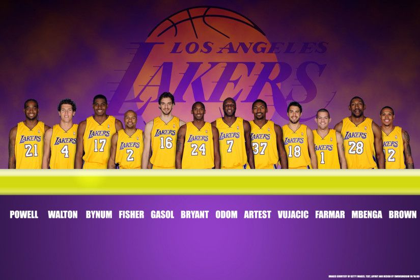 LA Lakers Wallpaper - Players in 2010, the Best Team!