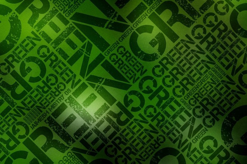 Preview wallpaper green, black, lettering, wall, letters 1920x1080