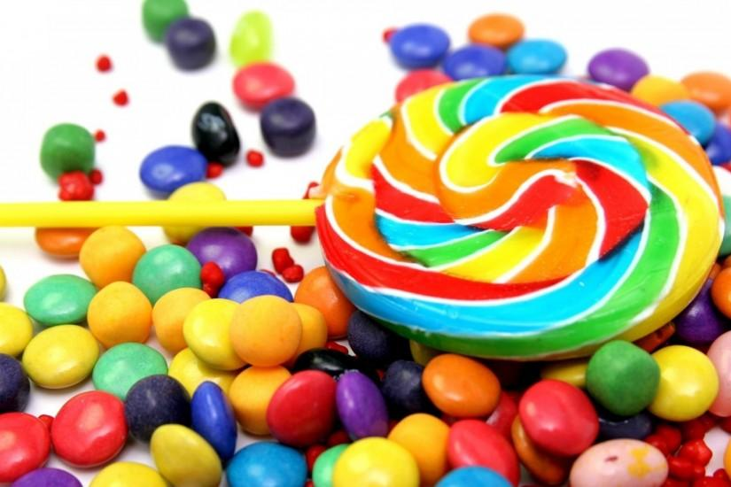 Preview wallpaper candy, jelly beans, colorful, food 3840x2160