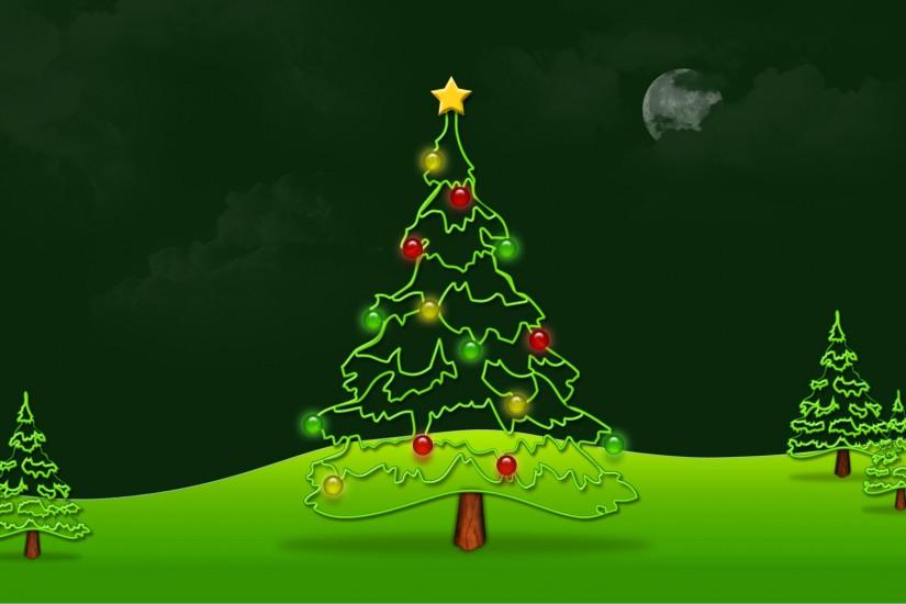 green christmas background 1920x1080 for mac
