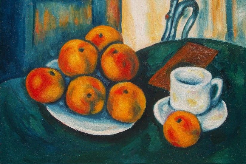 Painting Paul Cezanne's Still Life with Apples in Oils Step by Step