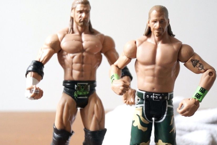 Shawn Michaels & Triple H DX WWE Special Edition Mattel Battlepack Figure  Unboxing & Review!! - YouTube