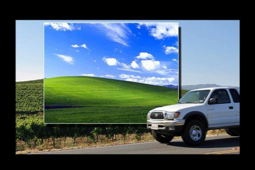 The Windows XP Background is real! Picture Proof!
