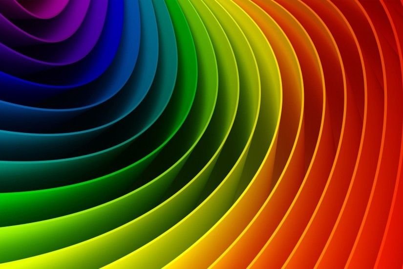 Maze of Rainbow Colors wallpaper