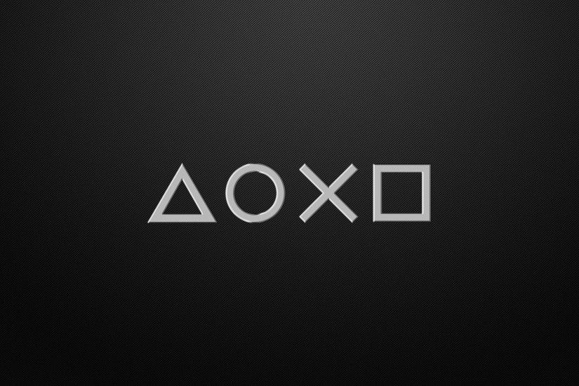 PlayStation Carbon Buttons 4K Wallpaper