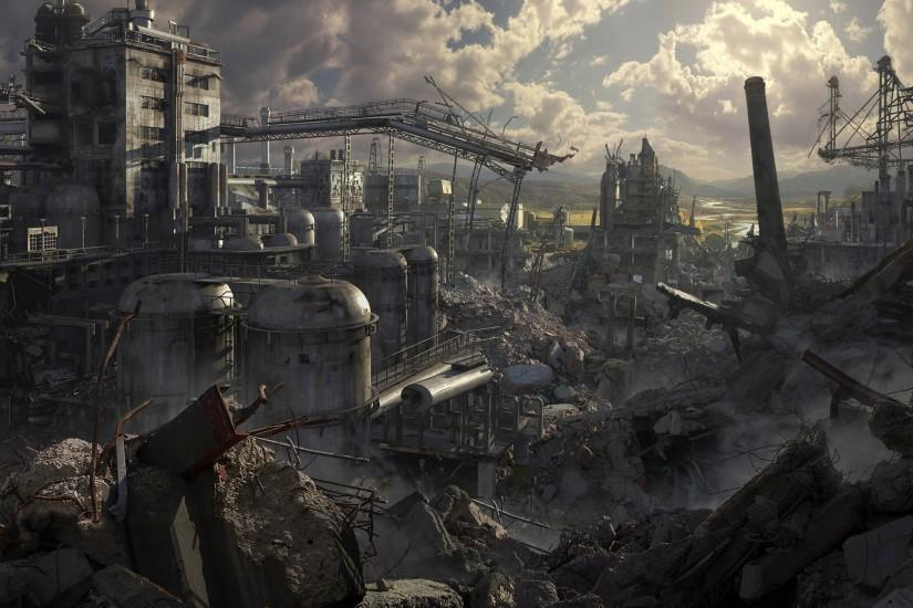 Ruins Post apocalyptic Wallpaper 2560x1440 Ruins, Postapocalyptic .