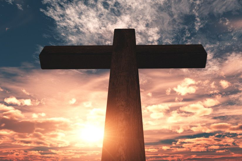 Cross Design Christian Background Center Focus