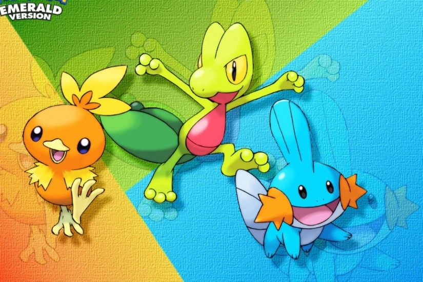 Treecko Torchic Mudkip wallpaper