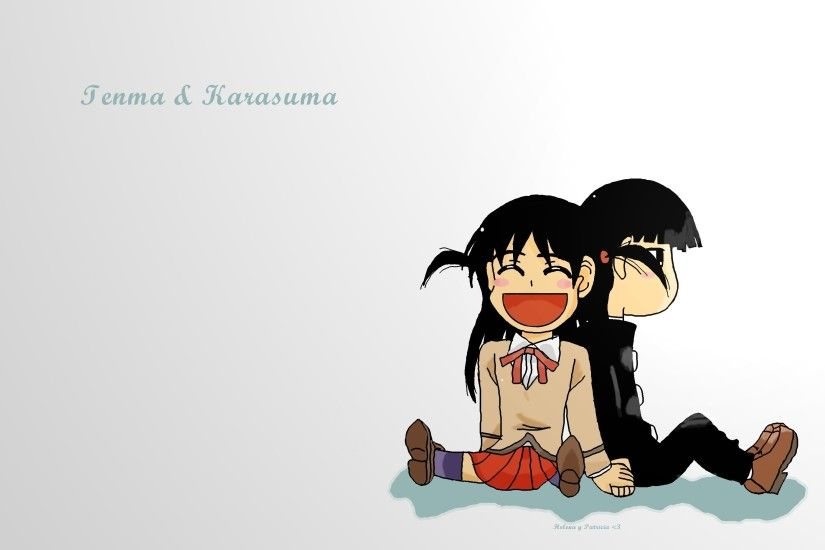 ... Tenma and Karasuma chibi wallpaper by MangakasSisters