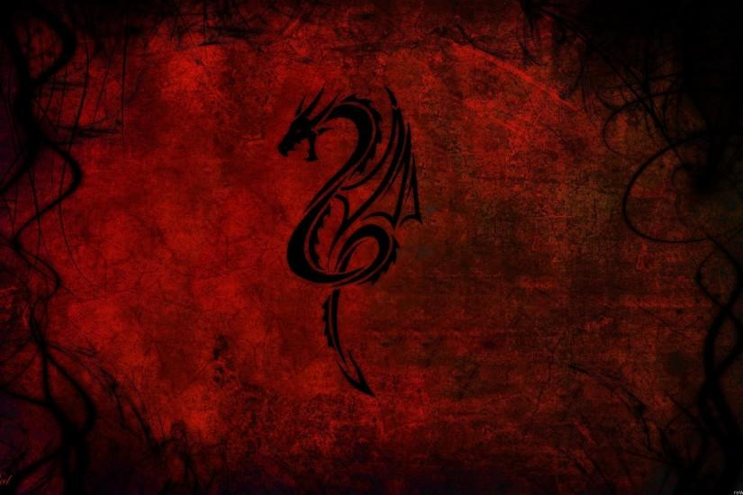 Wallpapers For > Black And Red Dragon Wallpaper
