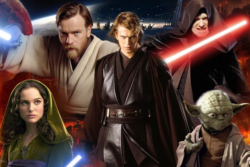 Movie - Star Wars Episode III: Revenge of the Sith Darth sidious Yoda Anakin  Skywalker