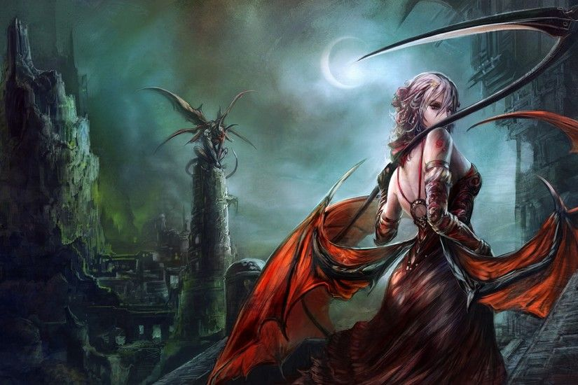 Wings Female Fantasy Warrior Wallpaper
