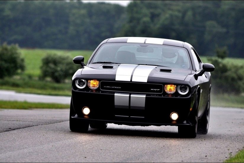 Black Dodge Challenger Srt8 392 Front Angle Speed Desktop Wallpaper