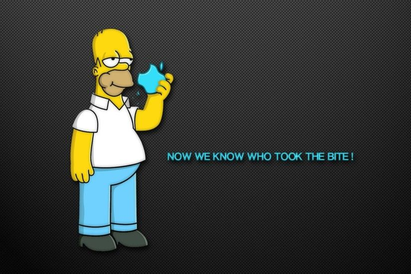 mac book air apple simpsons funny 2560x1440px Wallpapers HD Wallp