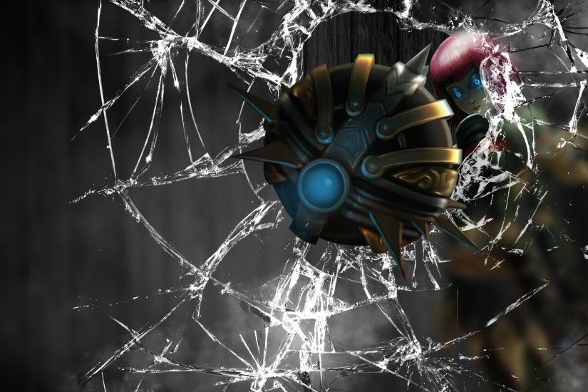 Crack Screen Broken Window Wallpaper Orianna League of Le.