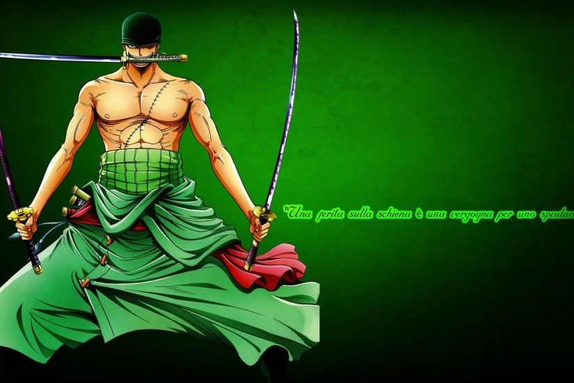 Anime One Piece Zoro Roronoa Katana Wallpaper