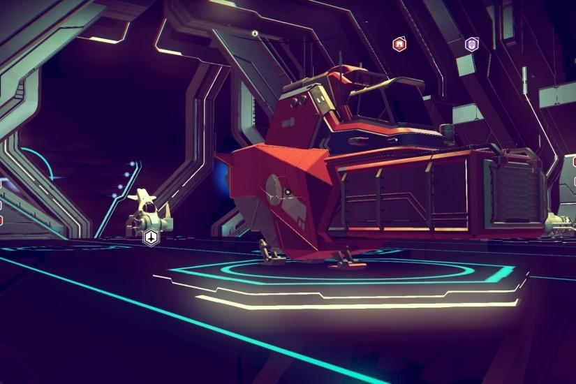 No Man's Sky The ship in the background was my original space cruiser. It  got replaced by the behemoth space truck in the foreground after some  careful ...