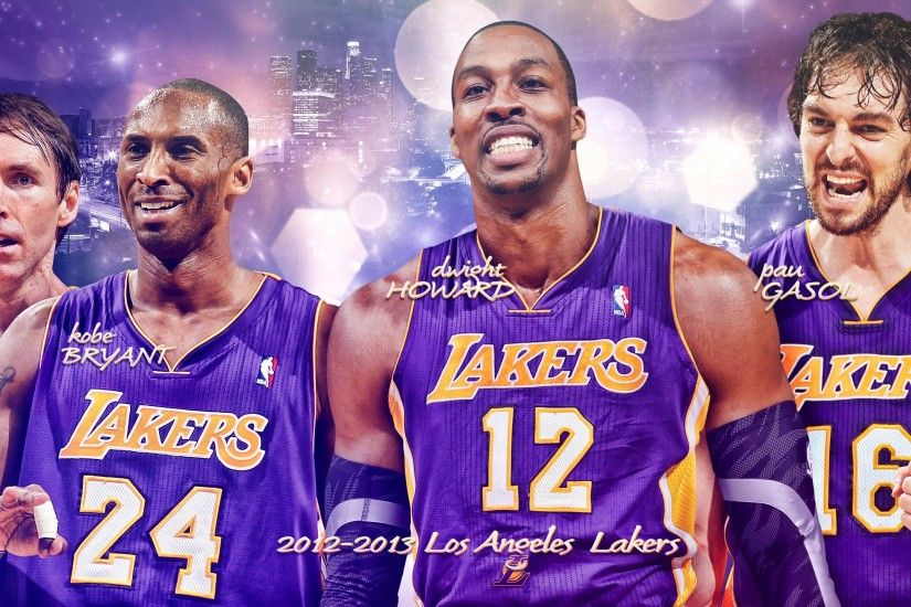 Los Angeles Lakers Big 4 2560×1440 Wallpaper