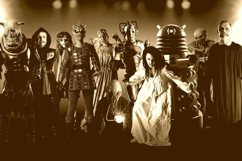 Cybermen Doctor Who Daleks Villians Wallpaper