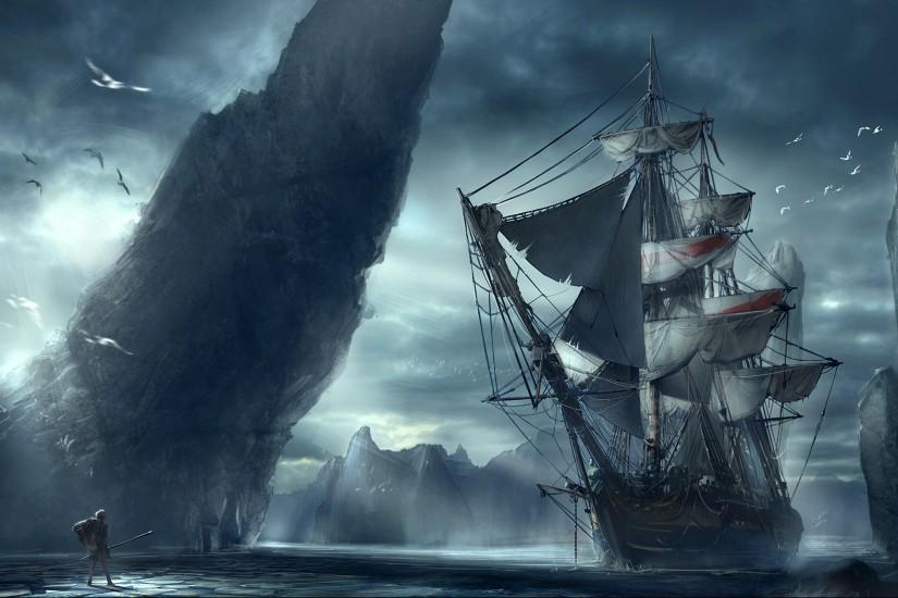 ghost pirate ship wallpaper full hd with high resolution wallpaper desktop  on dreamy & fantasy category