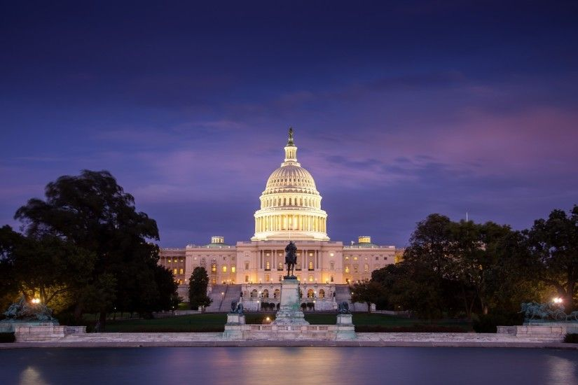 architecture, Building, Cityscape, City, Clouds, Evening, USA, Washington,  D.C., Capital, Water, Trees, Lights, Statue, White House Wallpapers HD /  Desktop ...